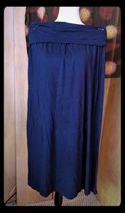 🔹🔷blue a.n.a. foldover waist comfy skirt XL🔷🔹